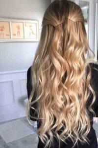 الشعر الأشقر الذهبي