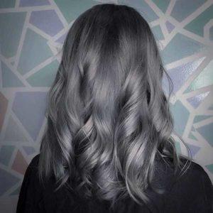 صبغة الشعر رمادي غامق